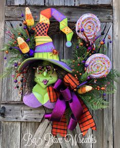 Excited to share this item from my #etsy shop: Halloween Wreath, Witch Wreath, Halloween Swag, Fall Wreath, Halloween Door, Witch Decor