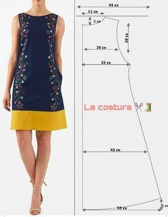 T Shirt Sewing Pattern, Dress Sewing Patterns, Clothing Patterns, Fashion Sewing, Diy Fashion, Fashion Dresses, Sewing Clothes, Diy Clothes, Diy Dress