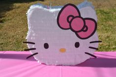 Hello Kitty piñata and like OMG! get some yourself some pawtastic adorable cat apparel Piñata Hello Kitty, Hello Kitty Pinata, Hello Kitty Theme Party, Hello Kitty Birthday Cake, Hello Kitty Themes, Birthday Pinata, Diy Birthday, Decoracion Hello Kitty, How To Make Pinata