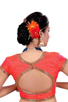 Good Looking Peach Coloured Ready Made Choli