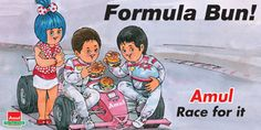 View Amul Formula Bun Race For It Advertisement newspaper. This Ad is collection of Sample Ad at Advert Gallery. Advertising, Ads, Slogan, Nostalgia, Oct 11, Racing, My Love, Formula 1, Posters