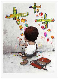 Dran 'I Have Chalks' PrintsAvailable - PostersandPrints - An Urban Street Art Blog - A Blog About Street Art, Urban, Original, Graffiti, Sculptures, Murals, Videos, Limited Edition, Screen Prints ...