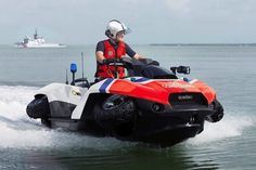 Gibbs Sports Amphibians -- the Quadski converts between an off-road four-wheeler and a jetski. Automobile, Amphibious Vehicle, 4x4, Rv Truck, Sport Boats, Ford, Expedition Vehicle, Futuristic Cars, Search And Rescue