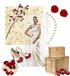 """""""Sposa white & red"""" by barbara-bragatto on Polyvore"""