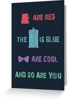 Doctor Who birthday card -nerd alert. I could make a cute poster out of this for the nerdy one!!