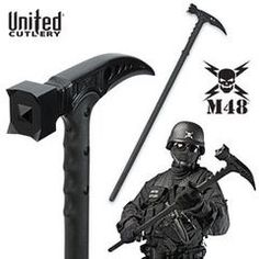 It's like a sword and hammer in one! In that it could be used to parry another sword, not actually cut. United Kommando Tactical Survival Hammer at BudK Tactical Survival, Survival Tools, Survival Knife, Survival Prepping, Tactical Gear, Emergency Preparedness, Zombie Survival Gear, Zombie Gear, Survival Quotes
