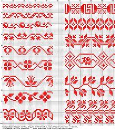 Magyar Népművészet XIV. Borsod megyei keresztszemes hímzések, 2. számú mintaív