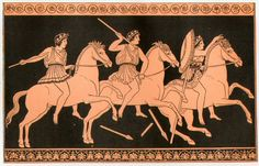 Alexander's companions in an illustration from 1890 drawn in a style imitating Attic red-figure pottery