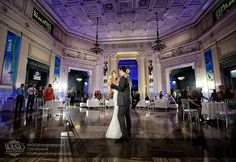 Bride and groom dancing at John G. Shedd #Aquarium. Photo taken by WASIO Photography.