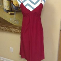 Burgundy Silk Dress by Cynthia Vincent Size S Gorgeous silk burgundy  dress size S Twelfth Street by Cynthia Vincent in beautiful condition. Stunning color, adjustable straps, low price. Questions feel free to contact me. Cynthia Vincent Dresses