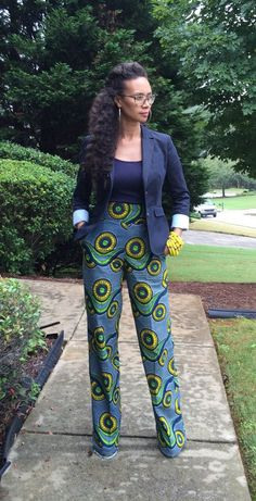 African Print Pants by MelangeMode on Etsy ~African fashion, Ankara, kitenge… African Print Pants, African Print Dresses, African Fashion Dresses, African Dress, African Prints, Ankara Fashion, African Style Clothing, Ghanaian Fashion, African Outfits
