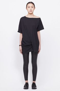 Ann Demeulemeester Top Unicotton Black (Black)