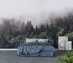 New York taxi Wall Mural / Wallpaper City Wallpaper Cloudy forest Bedroom Wallpaper Nature, Wall Murals Bedroom, Forest Wallpaper, Photo Wallpaper, Wall Wallpaper, Mural Wall, Adhesive Wallpaper, Forest Bedroom, Home Bedroom