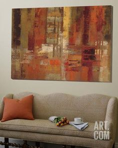 Sunset Street Crop Loft Art by Silvia Vassileva at Art.com