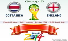 Costa Rica vs England Live Stream Info FIFA World Cup Preview 2014: http://www.watchcriclive.com/news/?p=705
