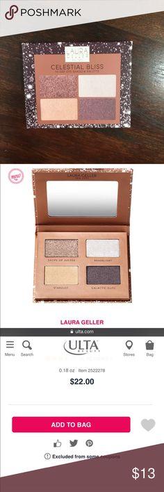 NIB Laura Gellar Celestial Bliss eyeshadow palette NIB Laura Gellar Celestial Bliss eyeshadow palette. Never used, 100% authentic Makeup Eyeshadow