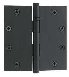"Baldwin 1051.I 5"" x 5"" Solid Brass Square Corner Ball Bearing Mortise Hinge - Si Oil Rubbed Bronze Door Hinge Ball Bearing 5 x 5"