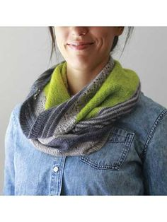 3 Color Cashmere Cowl Pattern