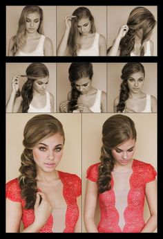 How to style a side scallop braid | hairstyles tutorial
