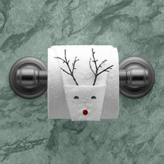 """""""Reindeer"""" instructions in """"Toilet Paper Origami on a Roll: Decorative Folds and Flourishes for Over-the-Top Hospitality"""" by Linda Wright ♦ http://www.amazon.com/dp/0980092337/"""