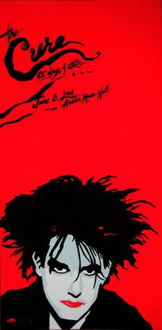 The Cure Concert Poster by Billy Perkins