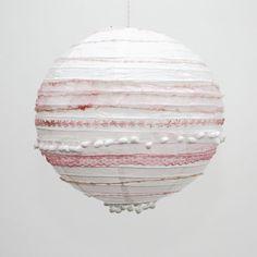 Borten-Lampion, weiß rosa  von Partyerie auf DaWanda.com