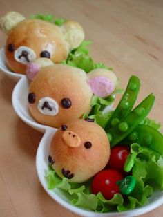 Kawaii Rilakkuma Bread for Kids Meal