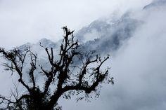 Smoky mountain in Tibet