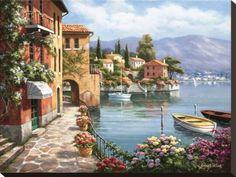 オールポスターズの ソン・キム「Villa de Lago」キャンバスプリント