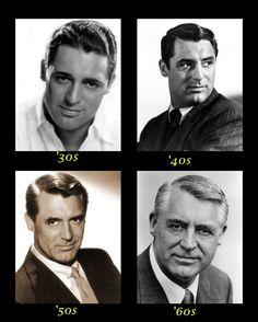 Cary Grant From Each Decade - 1930's, 1940's, 1950's, 1960's