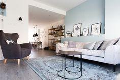 KARWEI | Aflevering 1: Een subtiele blauwtint op de muur zorgt voor extra sfeer.