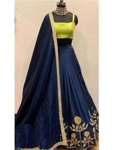 Navyblue Colore Bollywood Style Designer Embroidery Work With Lehenga Choli indian wedding wear for - Designer Dresses Couture Party Wear Indian Dresses, Indian Wedding Wear, Designer Party Wear Dresses, Indian Gowns Dresses, Indian Bridal Outfits, Party Wear Lehenga, Indian Fashion Dresses, Dress Indian Style, Indian Designer Outfits