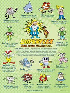 Superflex: A Superhero Social Thinking Curriculum - Central Social Work Services Social Skills Lessons, Social Skills Activities, Teaching Social Skills, Social Emotional Learning, Therapy Activities, Coping Skills, Life Skills, Therapy Ideas, Therapy Tools