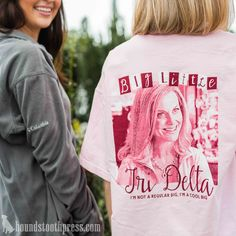 Tri Delt Big Little T-Shirt | #LoveTheLab houndstoothpress.com | Delta Delta…