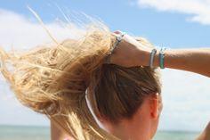 Boho Beach essentials to avoid windswept hair, Boho Betty Aqua Blue Set of 3 Hair Ties Boho Beach Style, Beach Essentials, Hair Ties, Aqua Blue, Bb, Photo And Video, Beauty, Instagram, Ribbon Hair Ties