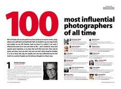 "Professional Photographer Magazine's 100 ""Most Influential"" photographers"