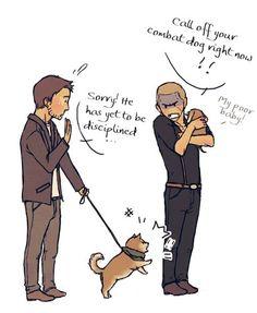Puppy Piers love Puppy Sherry
