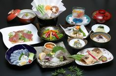 "Japanese Cuisine ""Kaiseki"" 懐石料理 Japanese Dinner, Japanese Food, Asian Recipes, Ethnic Recipes, Fresh Rolls, Dessert Recipes, Desserts, Great Recipes, Sushi"