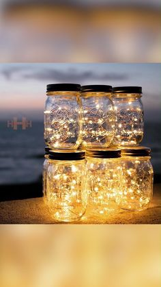 The Best Way To Get Cozy This Fall The Best Way To Get Cozy This Fall Humble Household www humblehousehold Copper Wire LED Lights are the easiest nbsp hellip videos tisch Fairy Lights In A Jar, Solar Fairy Lights, Mason Jar Party, Copper Home Accessories, Solar Mason Jars, Jar Lids, Led Night Light, Getting Cozy, Artisanal