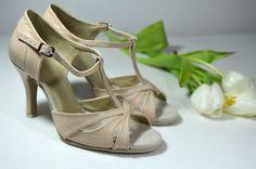 Svatební boty model Katrina T-styl. Pravá kůže ivory. Svadobné ... 3c924e7fa4