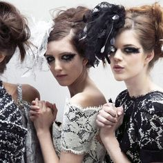 Diamond Dolls Couture: Gothic Smudgy Eyes - Chanel Couture 2013