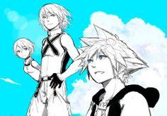 Kairi, Riku, & Sora