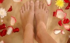 Feet With An Antibacterial Soap