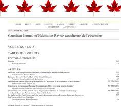 Canadian Journal of Education/Revue canadienne de l'éducation