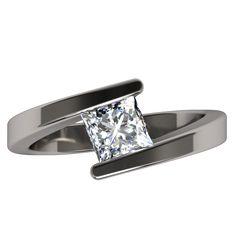 Etoile Square Solitaire Gem - Solitaire Gem - Women's Rings | Titanium Rings, Titanium Wedding Bands, Diamond Engagement Rings | Product