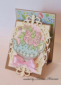 This is so close to an upright z fold card..Lovely, isn't it? Victorian Paper Queen