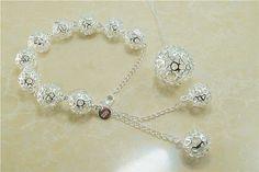 jewelry  925 wedding jewelry set fashion ball jewelry set for woman 925 silver set