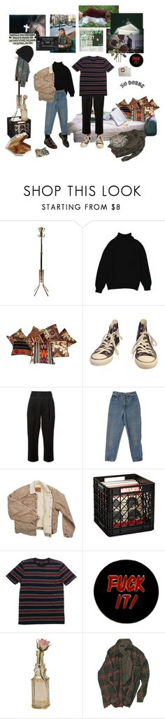"""""""the first time coming over"""" by blkgrid ❤ liked on Polyvore featuring Karen Scott, Converse, RED Valentino, Levi's, OUTRAGE, Brixton, Humör and Cultural Intrigue"""