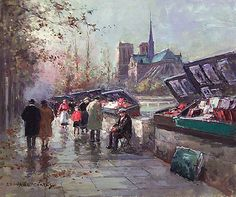 Booksellers of Notre-Dame    Artist: Edouard Cortes