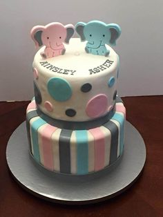 https://flic.kr/p/D5uj8Y | twins elephant theme baby shower                                                                                                                                                                                 More